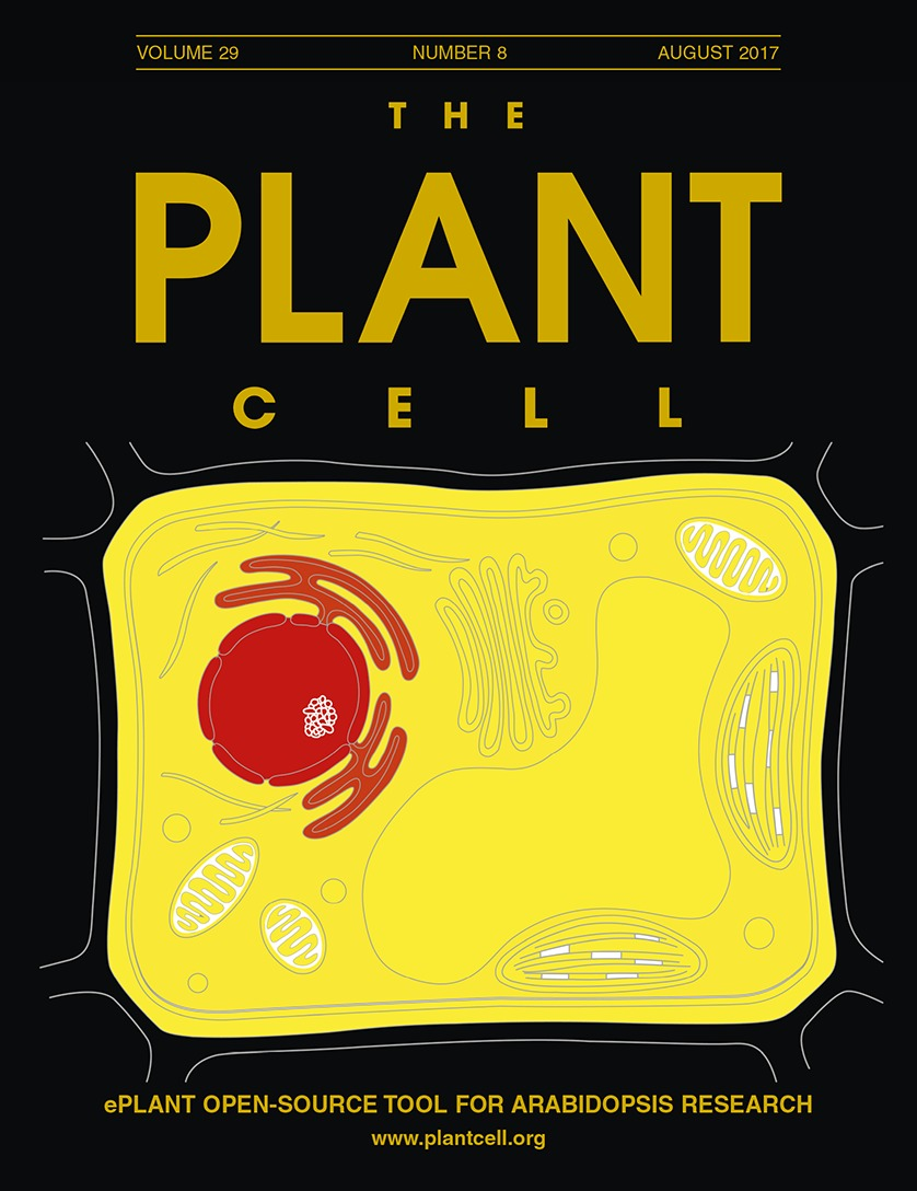 Cover of The Plant Cell from August 2017 featuring a figure from the ePlant paper